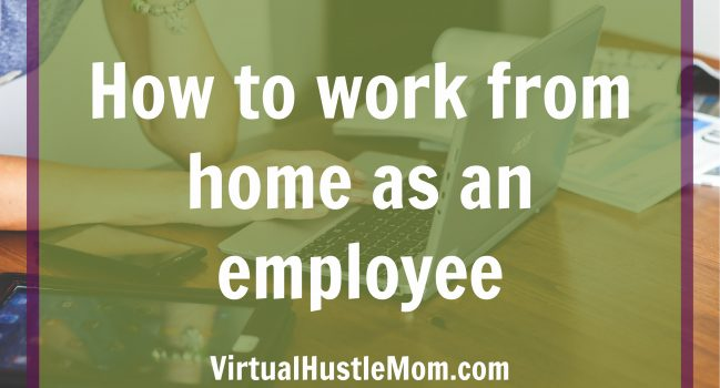 How to work from home as an employee